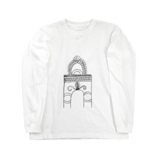 junsen 純仙 じゅんせんのJUNSEN(純仙)学び舎の門 Long sleeve T-shirts