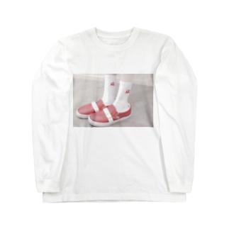 しろこのおくつ b Long sleeve T-shirts
