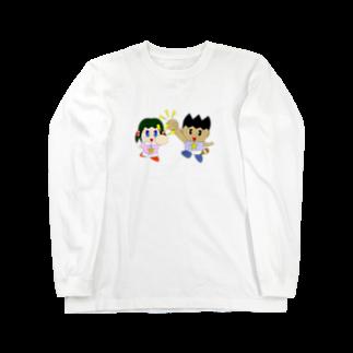 WANPA's STOREのミニわんぱ君としおりちゃん Long sleeve T-shirts