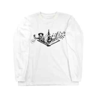 -Noir+Angelique- メモリアルイラスト柄シリーズ Long sleeve T-shirts