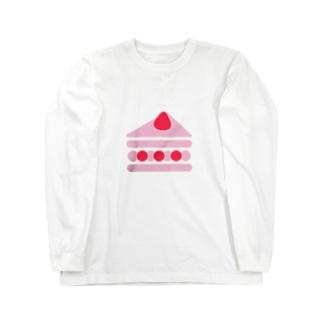 苺ショートケーキ Long sleeve T-shirts