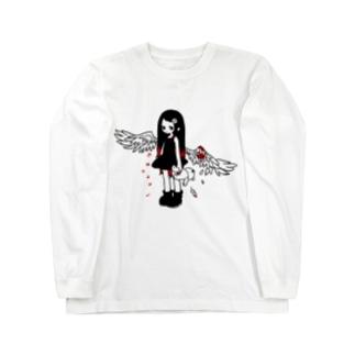 負傷天使ちゃん Long sleeve T-shirts