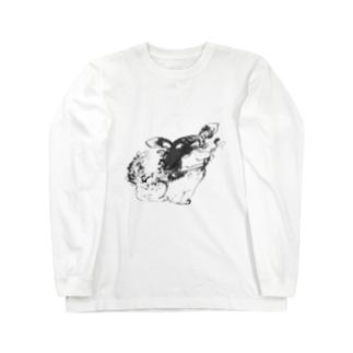 『わん、わんこ』 Long sleeve T-shirts