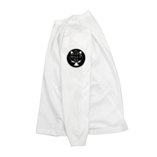 エリアシ刈り上げタイ−猫耳−黒 Long sleeve T-shirts