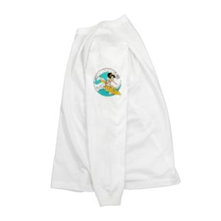 波乗りさくら子 Long sleeve T-shirts
