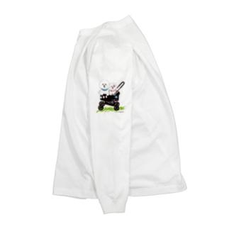 カート大好きレオ&みるく Long sleeve T-shirts