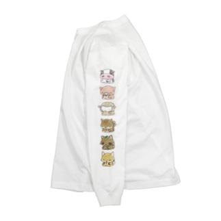 【するね】シリーズ 「体育座りするね」 袖プリント Long sleeve T-shirts