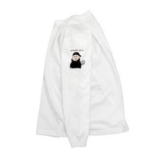 黒 What's up  Long sleeve T-shirts