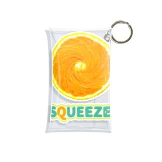 Squeeze!  Orange Mini Clear Multipurpose Case