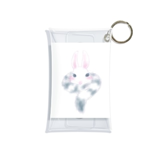 トラの威を借るウサギ (white) Mini Clear Multipurpose Case