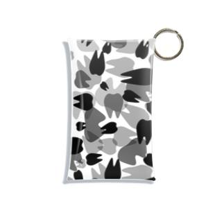 Tooth camo グレー Mini Clear Multipurpose Case