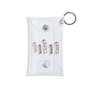 チンアナゴ&ニシキアナゴブラザーズ Mini Clear Multipurpose Case