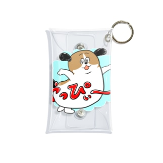 もじゃまるやっぴぃー! 水色 Mini Clear Multipurpose Case