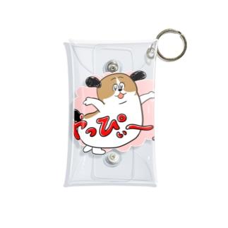 もじゃまるやっぴぃー! ピンク Mini Clear Multipurpose Case