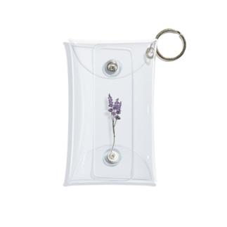 ラベンダーのお花 Mini Clear Multipurpose Case