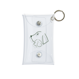 kanipanの犬好きのため Mini Clear Multipurpose Case