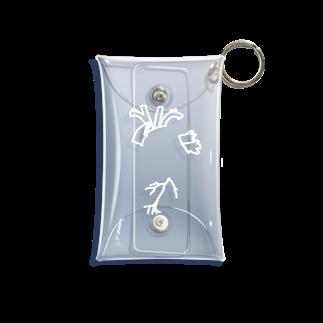 がつのさりげなく心臓(白) Mini Clear Multipurpose Case