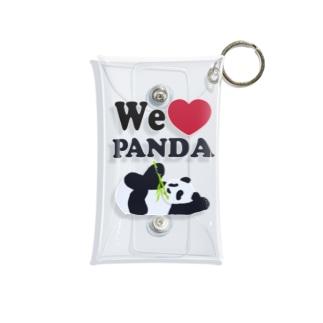 we love パンダ Mini Clear Multipurpose Case