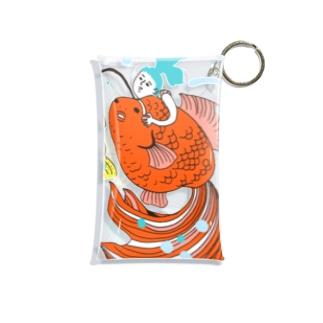 跳ね金魚 Mini Clear Multipurpose Case