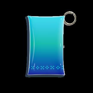 ハロー! オキナワの空と海の青 ミンサー [Hello!Okinawa] Mini Clear Multipurpose Case