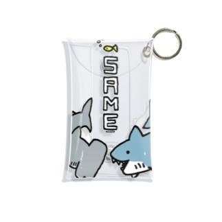 らくがきシリーズ-サメさんとシュモクザメさん Mini Clear Multipurpose Case