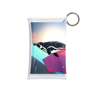 泳ぐペンギン Mini Clear Multipurpose Case