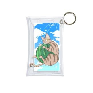 殿と夏/猫 Mini Clear Multipurpose Case