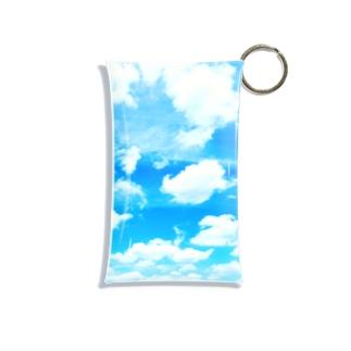 Blue sky and clouds Mini Clear Multipurpose Case