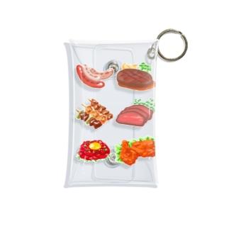 肉が好き Mini Clear Multipurpose Case