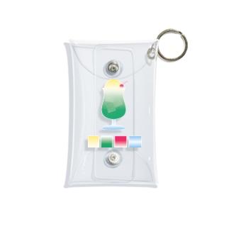 クリームソーダとカラーパレット Mini Clear Multipurpose Case