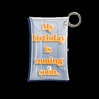 ちるまの店のMy birthday is coming soon. Mini Clear Multipurpose Case