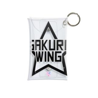 SAKURA WING LLC.のSAKURA WINGスター黒字 Mini Clear Multipurpose Case