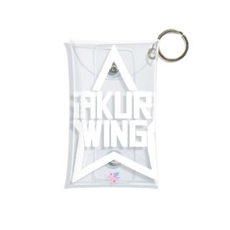 SAKURA WINGスター白字 Mini Clear Multipurpose Case
