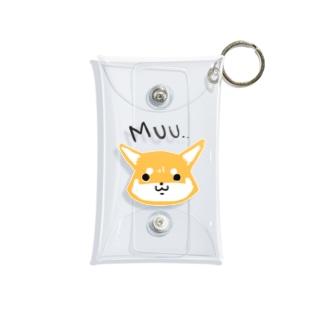 浅木愁太@LINEスタンプ販売中のおこしばさん(赤柴) Mini Clear Multipurpose Case