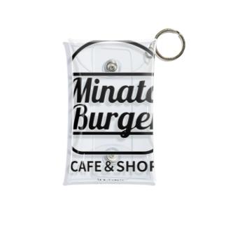 MinatoBurgerグッズ(ブラック) Mini Clear Multipurpose Case