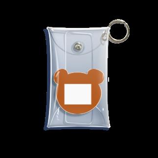 つきしょっぷのクマの名札 Mini Clear Multipurpose Case