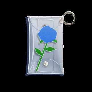 つきしょっぷの一輪の青いバラ Mini Clear Multipurpose Case