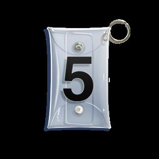 インジュンの5 - five (Helvetica) Mini Clear Multipurpose Case