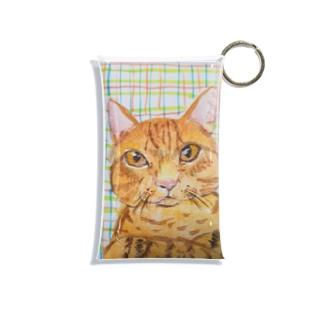 茶トラ猫 Mini Clear Multipurpose Case