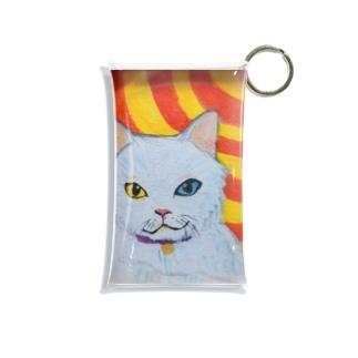 神々しい猫 Mini Clear Multipurpose Case