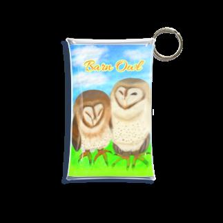 Lily bird(о´∀`о)の草原とメンフクロウず(ロゴ入り)① Mini Clear Multipurpose Case