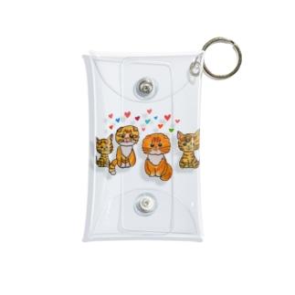 可愛い猫ちゃん(まるおくん、もふこちゃん) Mini Clear Multipurpose Case