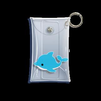 つきしょっぷのイルカさん Mini Clear Multipurpose Case