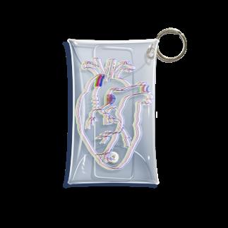 がつのぼやける心臓 Mini Clear Multipurpose Case