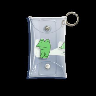 がつの動かないカエル 透過 Mini Clear Multipurpose Case