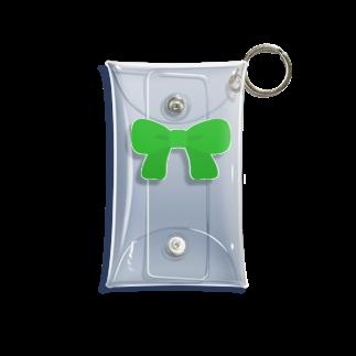 つきしょっぷの緑のリボン Mini Clear Multipurpose Case