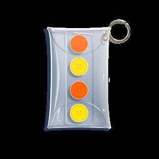 つきしょっぷの黄色のボタン Mini Clear Multipurpose Case
