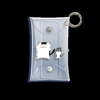 がつのでかい猫と小さい猫 Mini Clear Multipurpose Case