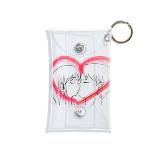 Lily bird(о´∀`о)のKissing with heart♥ Mini Clear Multipurpose Case
