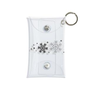 つきしょっぷのモノクロの雪の結晶 Mini Clear Multipurpose Case